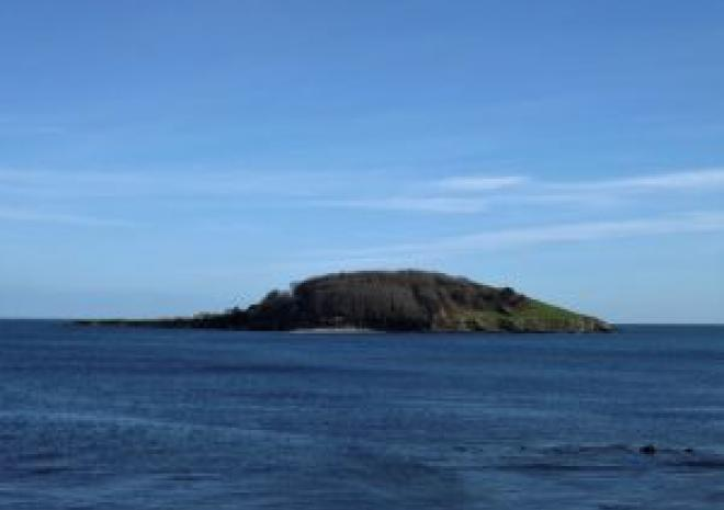 Looe Island, view from Calico