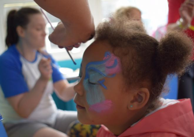 Face-painting at Monkey Tree Holiday Park near Newquay