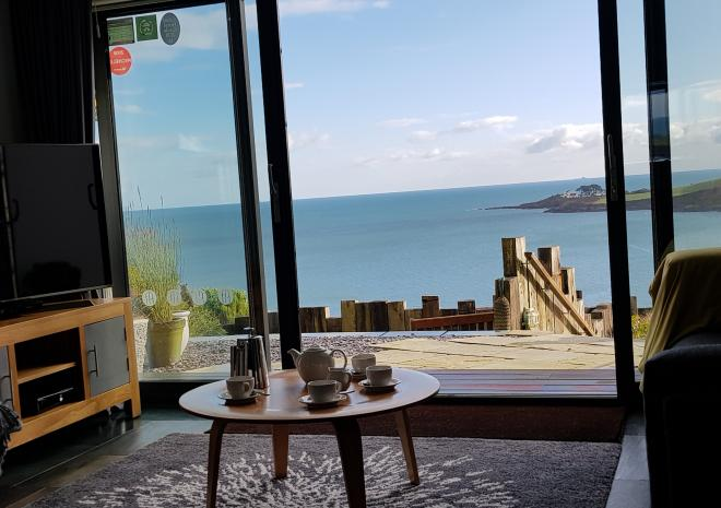 View Out To Sea From Pebble House, Mevagissey, Cornwall