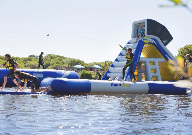 Retallack Resort, Aqua Park, Things to Do, Cornwall