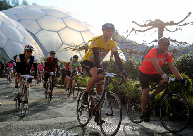 Eden Classic cycle ride, Eden Project, St Austell, Cornwall