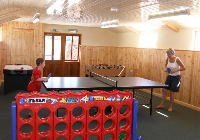 Farm holiday cornwall trampoline games room table tennis tumble room