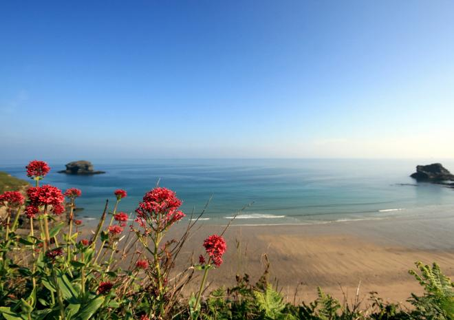 Portreath beach is also the start of the coast to coast cycle trail