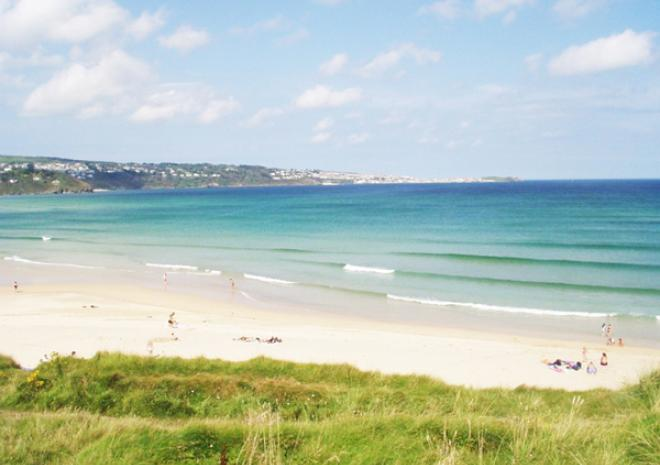 Hayle Towans beach.  Less than 10 minutes drive from the cottages.