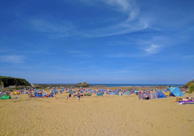 Summerleaze beach, in Bude