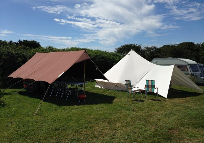 Tre-Morvu, Camping site, Accommodation, West Cornwall, Sea view