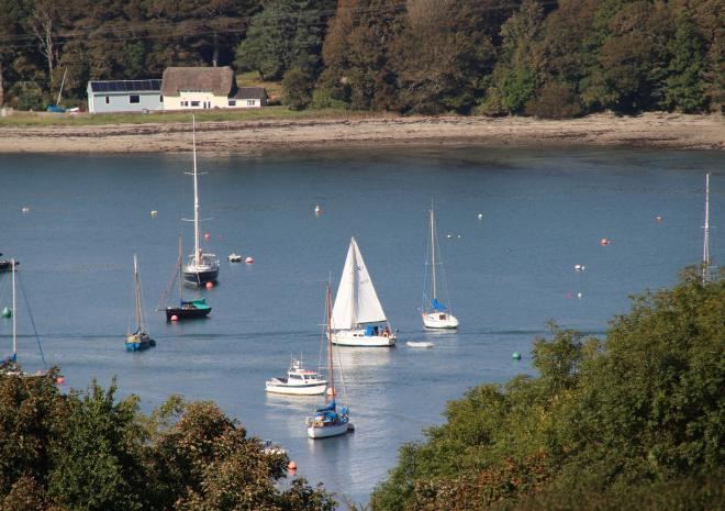 The Riverside, Self Catering Cottage, Helford, South Cornwall, River view