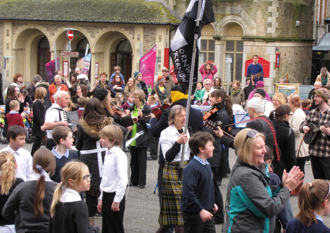 St Piran's Day Parade, Falmouth, Cornwall