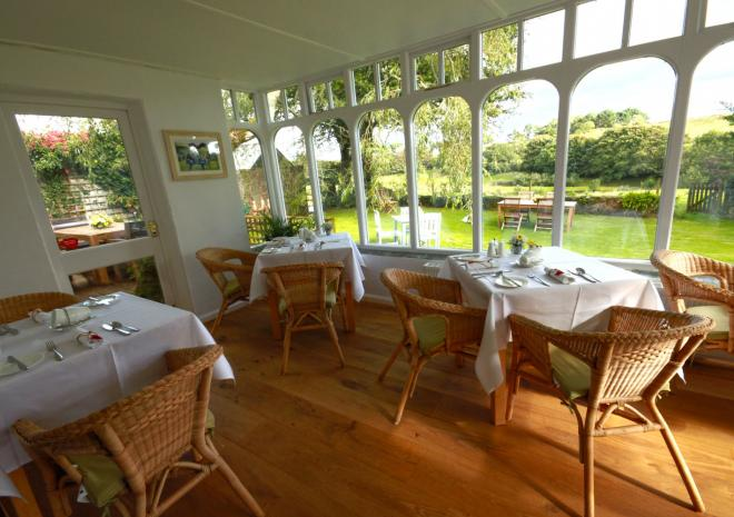 Breakfast at Trenderway Farm, Bed and Breakfast, Looe, South Cornwall
