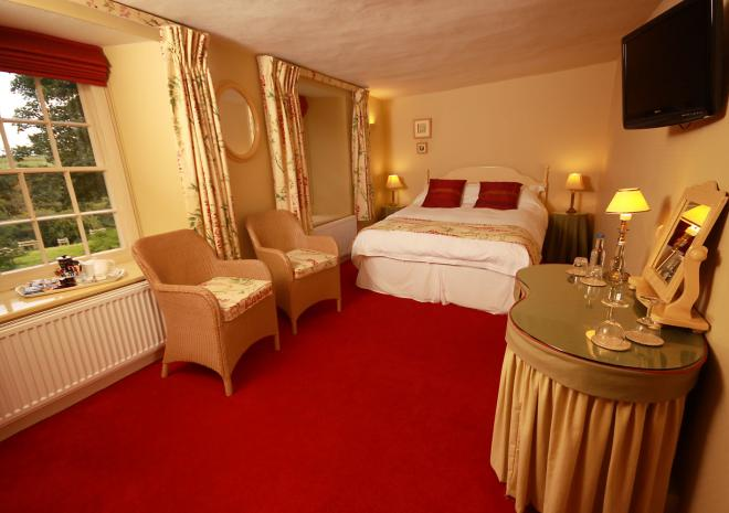 The Willow Double Room at Trenderway Farm, Bed and Breakfast, Looe, South Cornwall