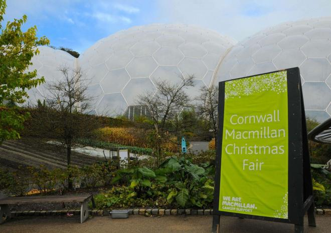 Macmillan Christmas Fair, Eden Project, Visit Cornwall, Event