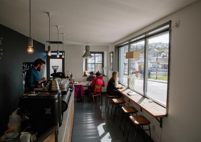 Origin Coffee Roasters, Harbour Head Cafe, Porthleven, Cornwall