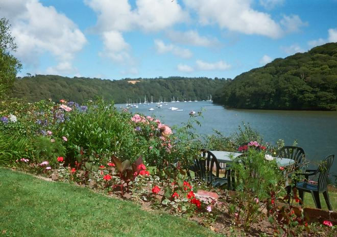 Cottages in Cornwall | Lanwithan Cottages | Waterside garden view |  Malpas