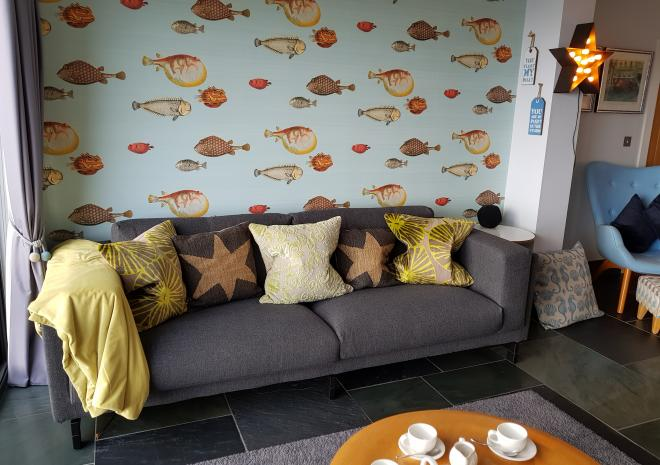 Part of Lounge at Pebble House, Mevagissey, Cornwall