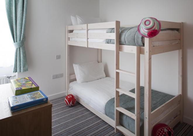 Twin room with bunkbeds