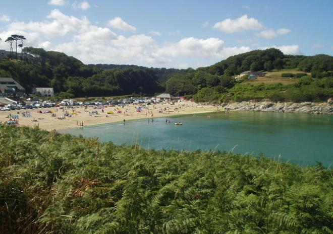 Maenporth Beach, Falmouth c James Penman