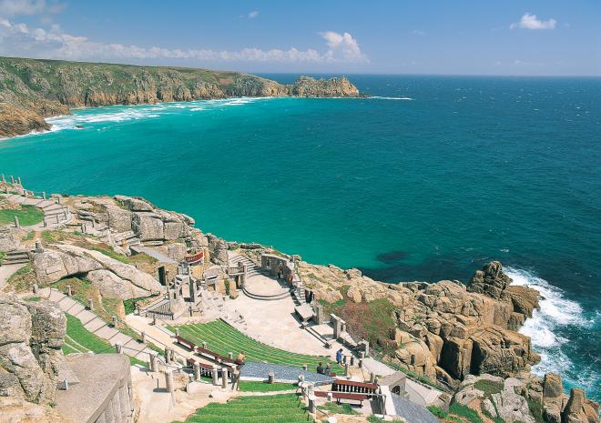 Minack Theatre and Porthcurno beach 30 minutes away
