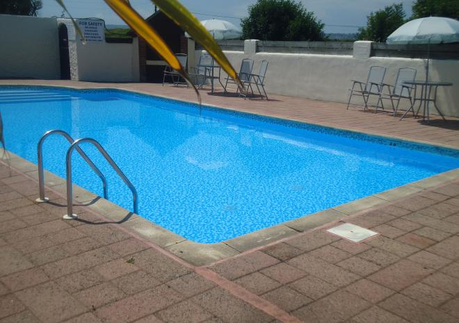 Swimming pool, Mounts Bay Caravan Park, Cornwall