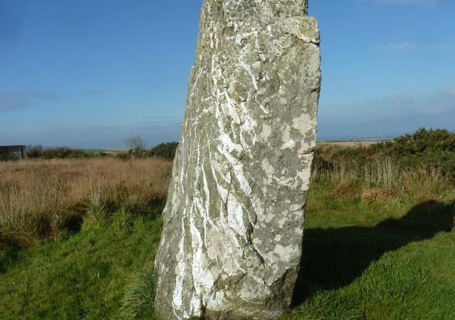 St Breock Monolith near Pengelly Farm