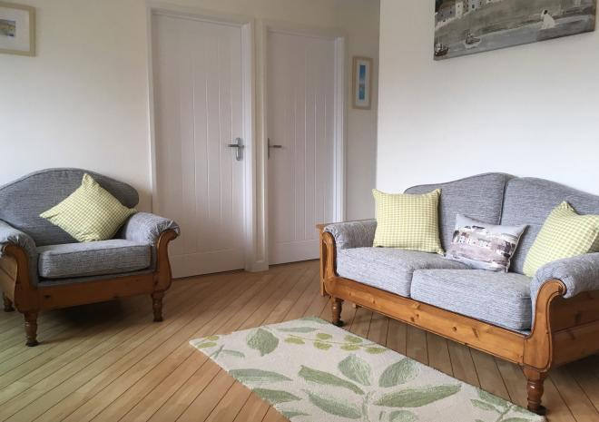 Pampas Cottage Lounge, Yellow Sands Cottages, Harlyn Bay, Padstow, Cornwall