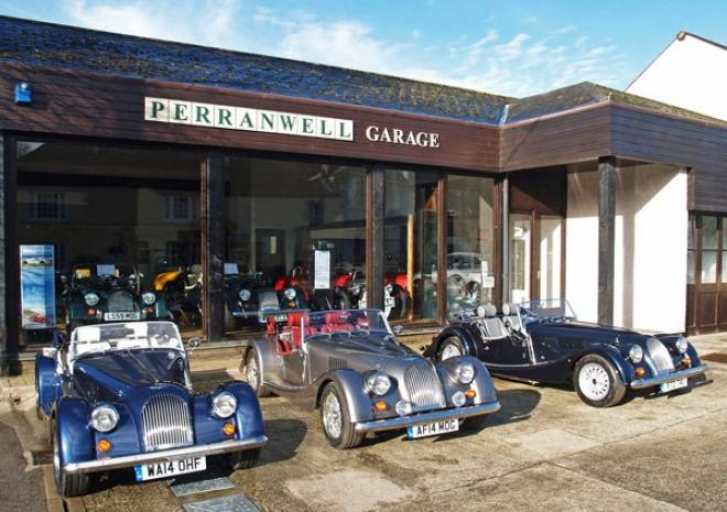 Perranwell Garage, Morgan hire, Nr Truro, Cornwall