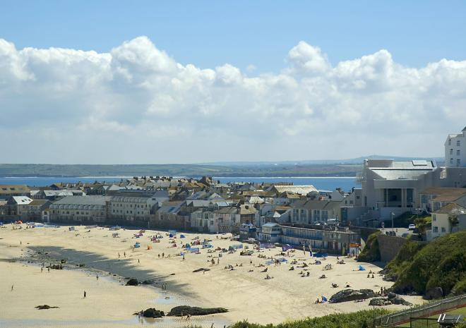 Porthmeor Beach and St Ives, Cornwall c Adam Gibbard