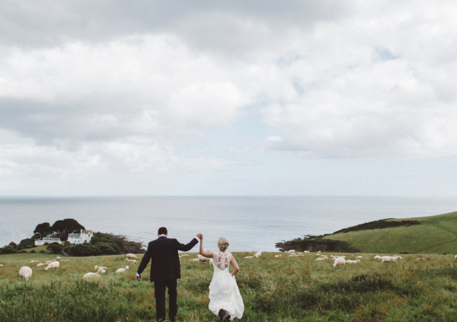 Celebrating marriage at Lower Barns on the nearby coast path