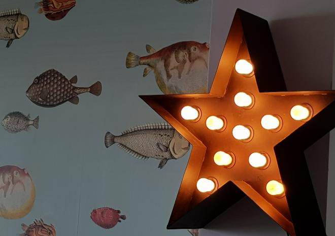 Lounge Lights at Pebble House, Mevagissey, Cornwall