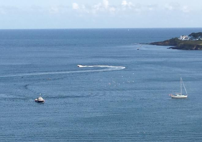 View OVer The Bay On A Bank Holiday from Pebble House, Mevagissey, Cornwall