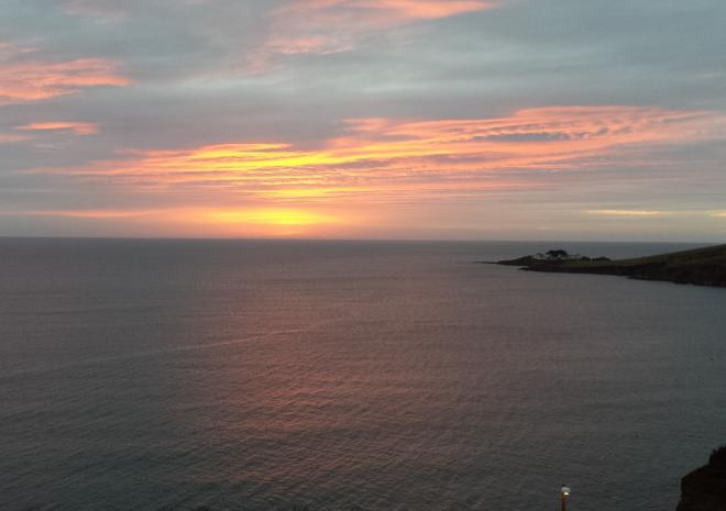 Sunrise View from Pebble House, Mevagissey, Cornwall