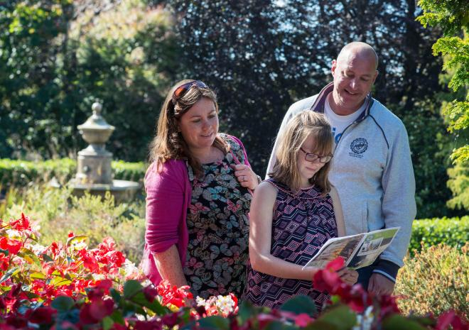 Exploring Victoria Gardens on the Truro Murder Mystery Treasure Trail
