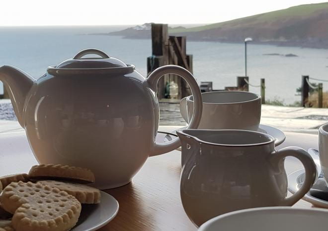 Tea With A View from Pebble House, Mevagissey, Cornwall