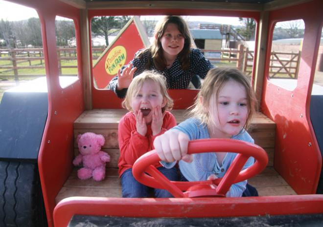 Tractor, play, Paradise Park, HAyle, Cornwall, Things to do