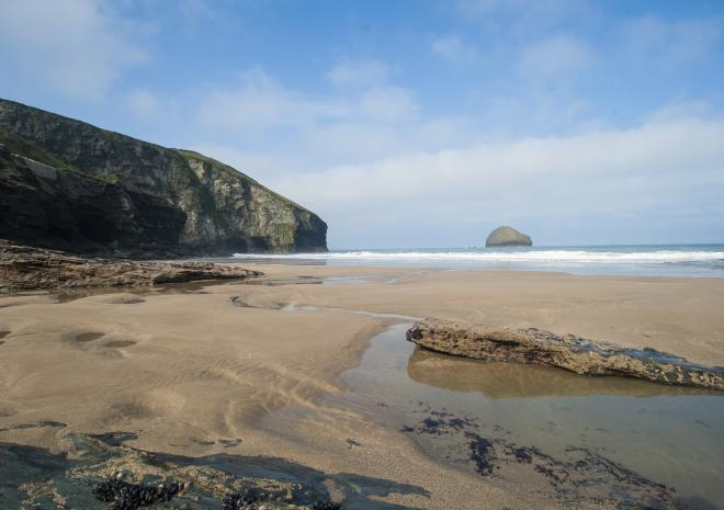Trebarwith Strand Beach | Tintagel | Beaches in Cornwall c Adam Gibbard