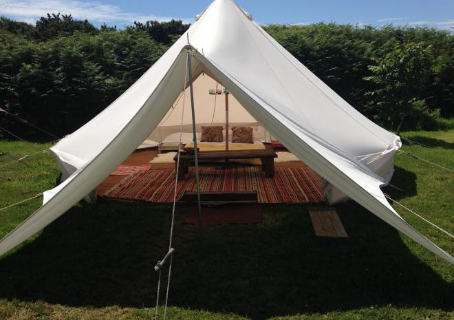 Tre-Morvu, Camping site, Accommodation, West Cornwall, Bell Tent