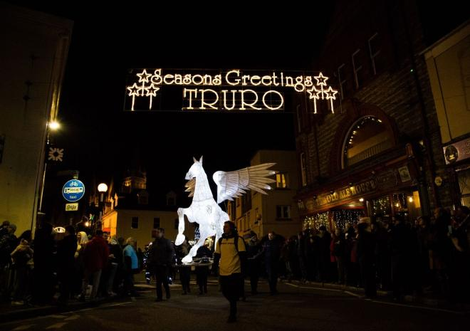 Truro City of Lights Parade, Cornwall