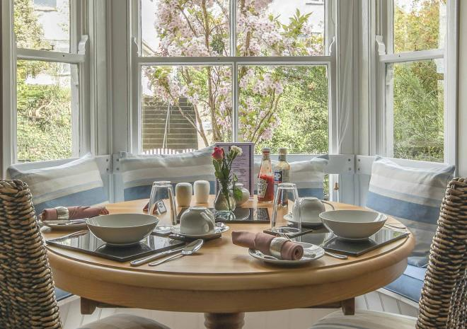 Our bright and spacious breakfast room awaits you at Brookdale Bed and Breakfast
