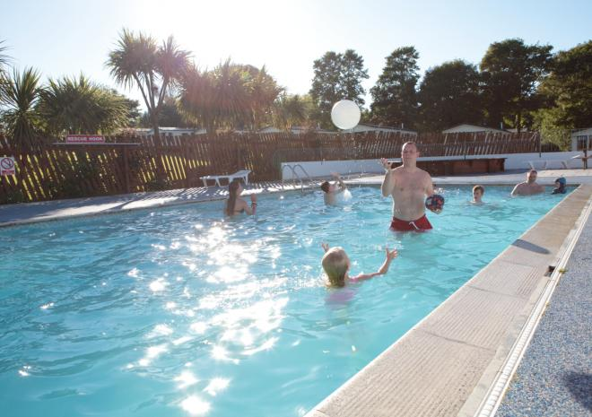 Outdoor heated, swimming pool
