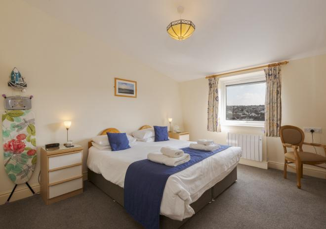 Standard double bedroom, Porth Veor Manor, Porth, Newquay, Cornwall