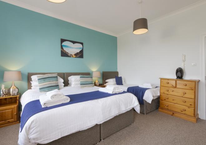 Triple room, Porth Veor Manor, Porth, Newquay, Cornwall
