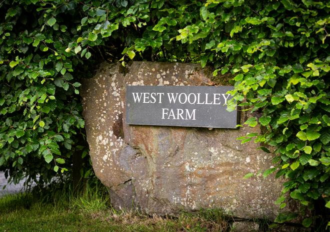 West Woolley Farm entrance