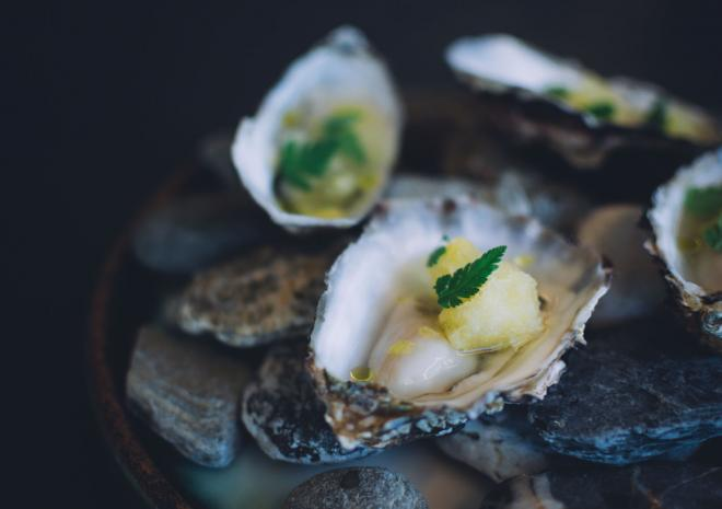 Oysters, Jamie Oliver's Fifteen Cornwall, Restaurant, Watergate Bay