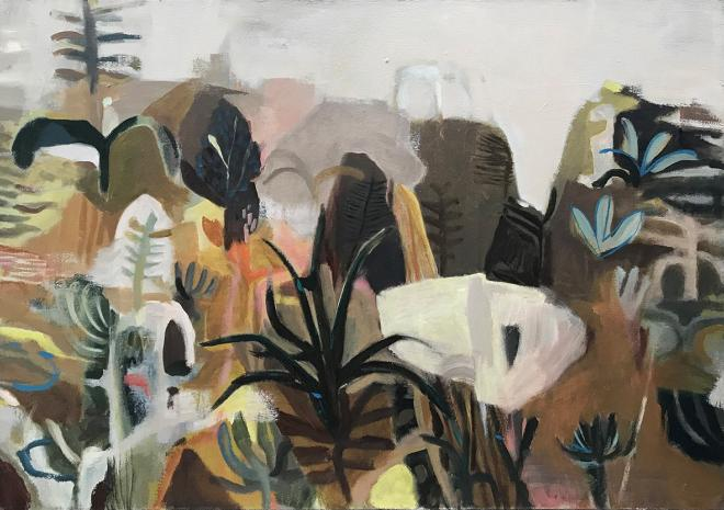 Dana Finch 'Garden', oil on canvas.