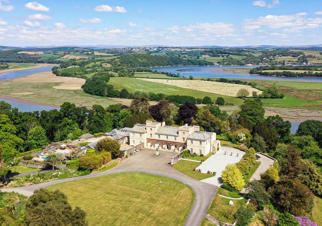 Aerial picture of Pentillie Castle, Cornwall