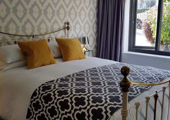 Second bedroom at Little Pebble House, Mevagissey