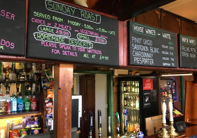 Bar at the Bird In Hand Pub, Hayle, West Cornwall