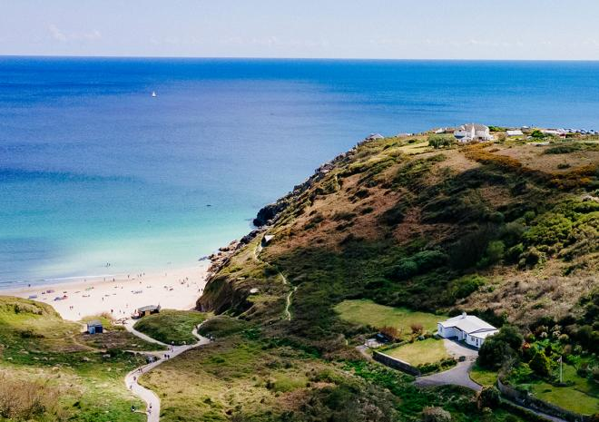 PK Porthcurno - Porthcurno valley and cable hut