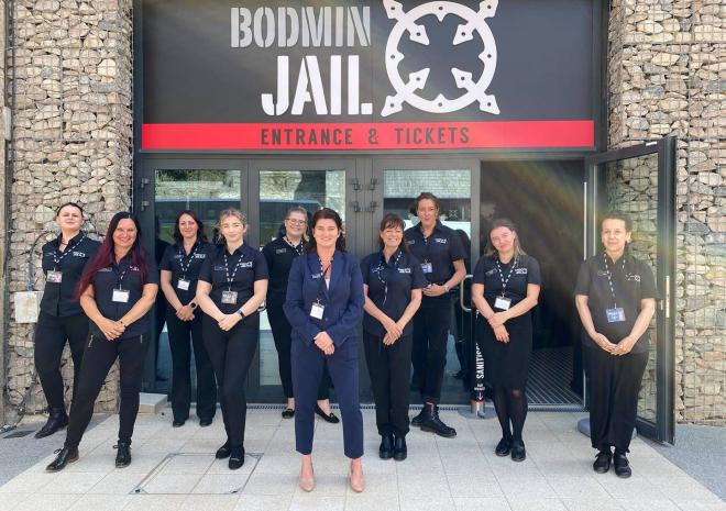 The Bodmin Jail team ready to welcome you to our immersive museum perfect for rainy days in Cornwall