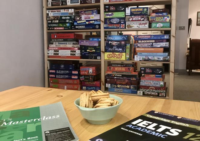 Course books & board games at Language Tree