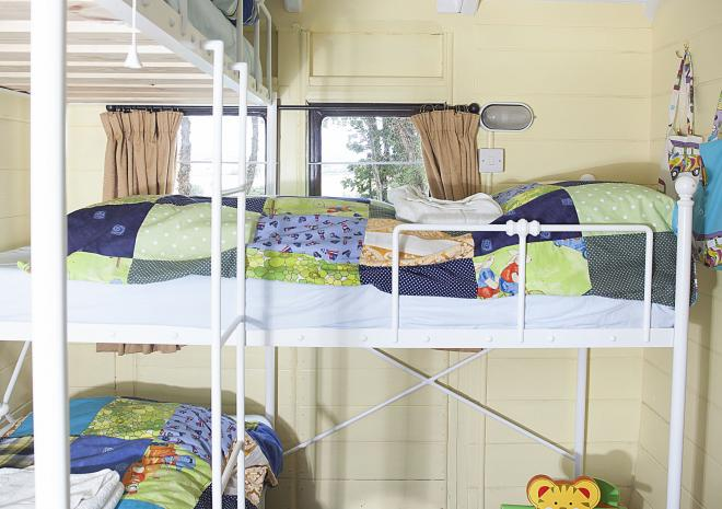 Children love the bespoke triple bunk bed in Mevy